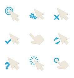 arrow cursor icons set cartoon style vector image vector image
