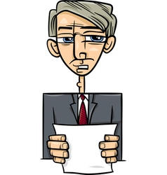 man giving speech cartoon vector image
