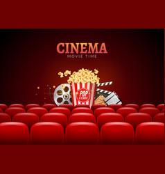 Movie cinema premiere poster design template vector image