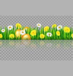 seamless grass border vector image