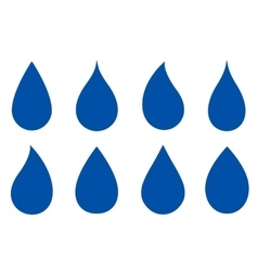 set of drop silhouettes vector image vector image