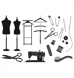 tailoring vector image vector image