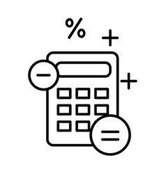 accounting and finance outline symbol calculator vector image