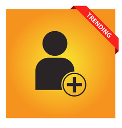 Add user account icon for web and mobile vector