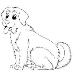 Animal outline for golden retriever vector