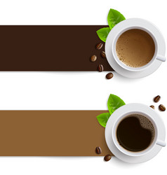 banners with coffee cups vector image