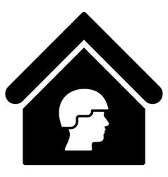 Barrack building flat icon vector