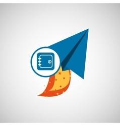 business concept finance safe start up graphic vector image