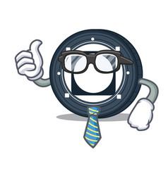 Businessman byteball bytes coin character cartoon vector