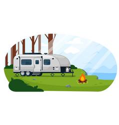 camper trailer caravan camper trailer vector image
