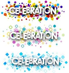 Celebration colour banners vector