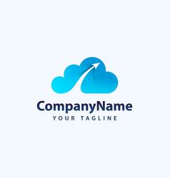 Creative 3d cloud logo design icon vector