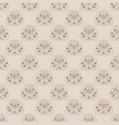 Damask neutral color floral seamless vector
