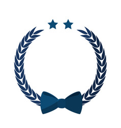 Decorative bow icon vector