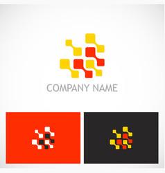 Digital connect technology logo vector