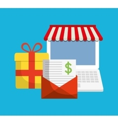 Digital marketing shopping buy vector