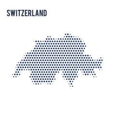 dotted map of switzerland isolated on white vector image
