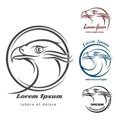 Eagle Head Logo Set vector image