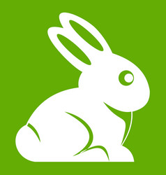 easter bunny icon green vector image