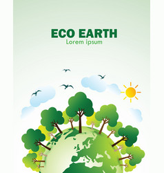 Eco green earth vector