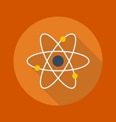 Education flat icon atom vector