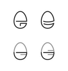 Egg Shape Line Logo Minimalism Style Logotype vector image