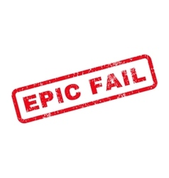 Epic Fail Text Rubber Stamp vector image