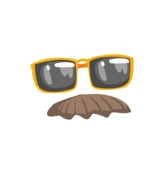 Fake Moustache And Glasses Disguise Set vector image