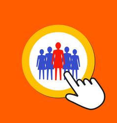 female figures icon woman team leadership concept vector image