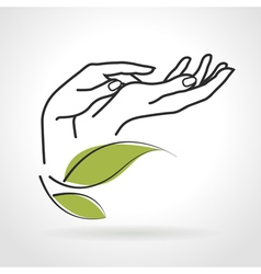 Female Hands Caring for Them vector image