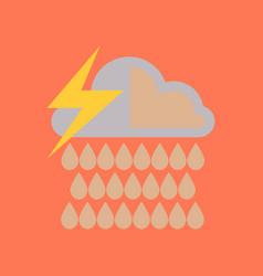 Flat icon on stylish background thunderstorm rain vector