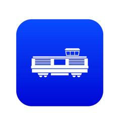 Freight train icon digital blue vector