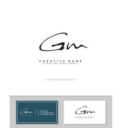 G m gm initial logo signature handwriting vector