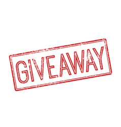 Giveaway red rubber stamp on white vector image