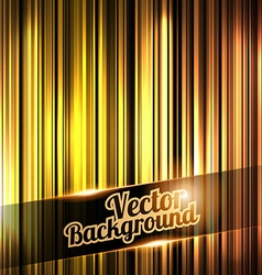 Golden and shiny stripes background With place for vector