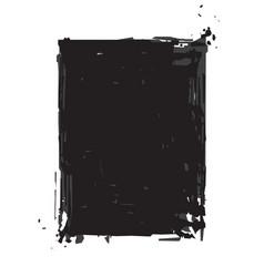 grunge frame - black vector image