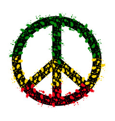 Isolated colored peace symbol vector