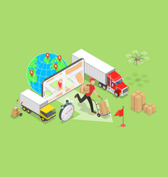 Isometric flat concept smart logistics vector