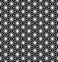 japanese pattern black and white vector image