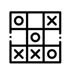 kids game noughts and crosses sign icon vector image