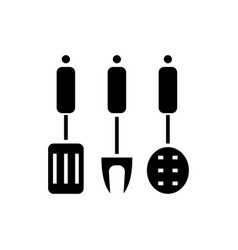 kitchenware - kitchen accessories icon vector image