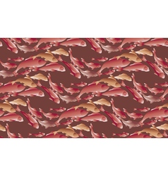 Koi fish pattern in natural elegant color vector