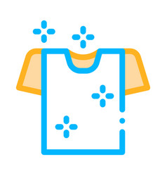 laundry service washed t-shirt line icon vector image