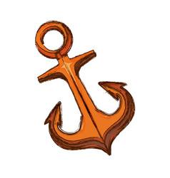 Marine anchor symbol vector