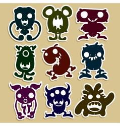 Mini Monsters Set 1 vector image