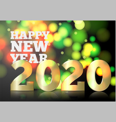new year invitation big golden 2020 number vector image