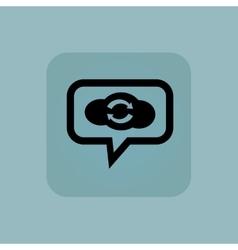 Pale blue cloud exchange message vector