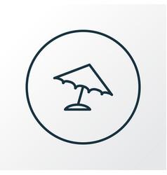 parasol icon line symbol premium quality isolated vector image