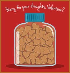Penny for your thoughts vector