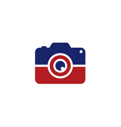 photo camera logotype logo template vector image